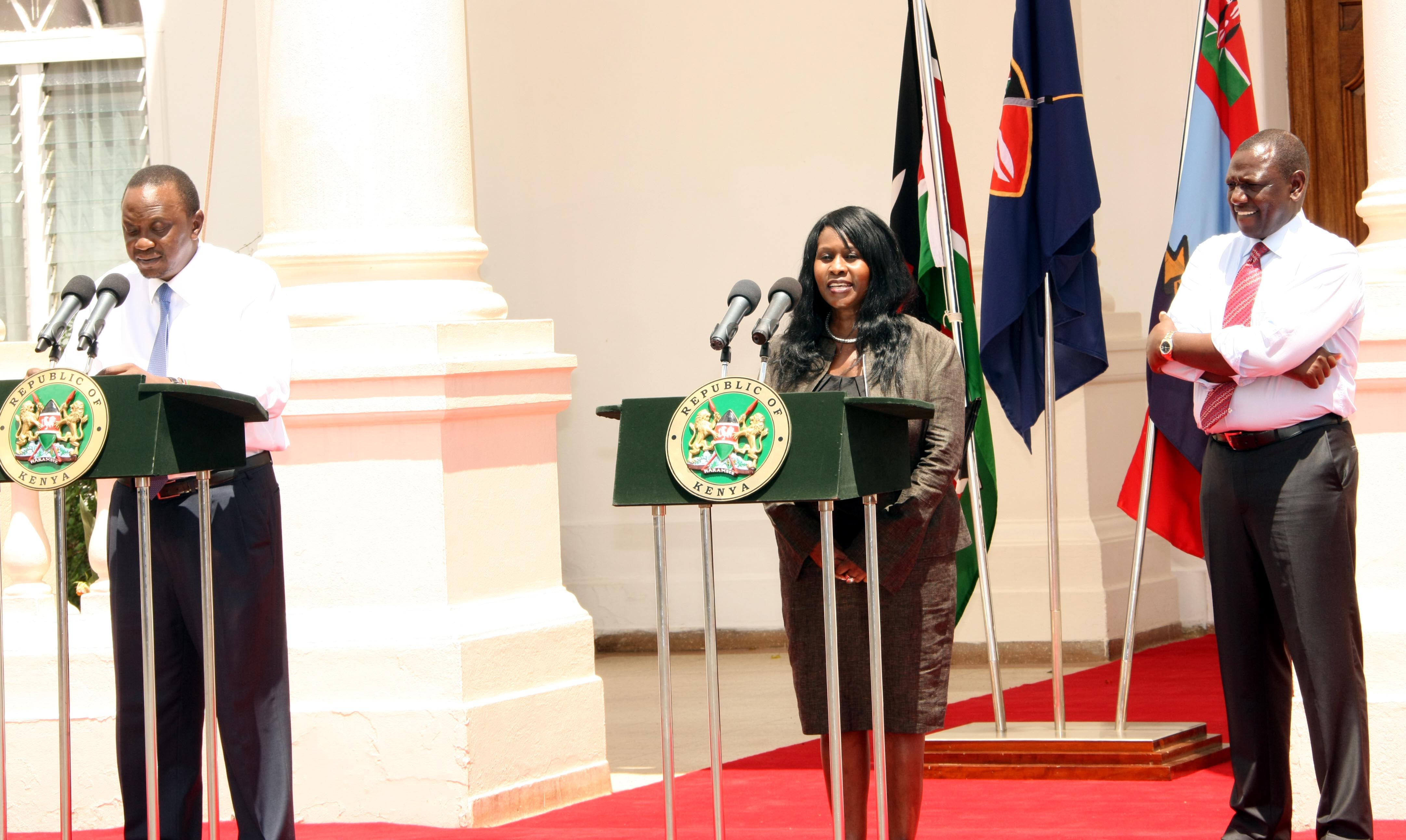 Kenyan Cabinet Secretaries President Uhuru Kenyatta Introduces Prof Judi Wangalwa Wakhungu