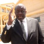 Director CCK Peter Simani leaving the Milimani law court