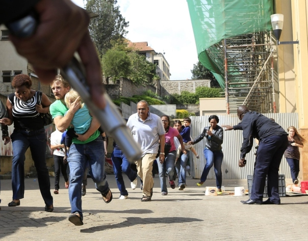 People run out of Westgate Mall after gunmen attacked and killed atleast 59 people Photo Reuters