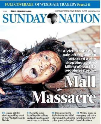 The Photo that was used by the Sunday Nation that has generated ethical issues