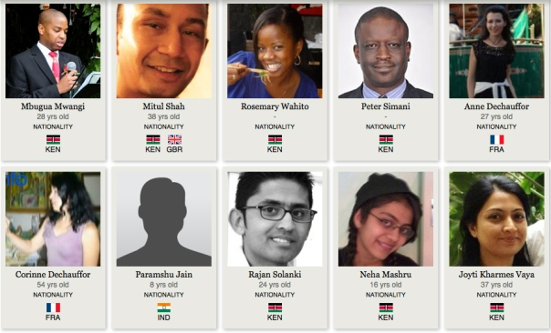 Some of those who died at Westgate Mall