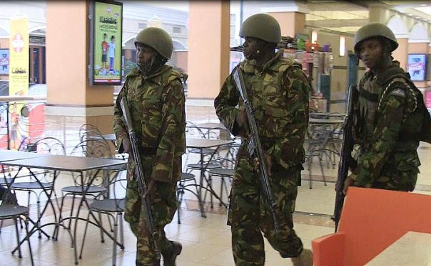 KDF officers inside the Westgate Mall.