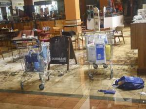 Inside the Nakumatt Supermarket at Westgate Mali. The supermarket is said to have been looted allegedly by KDF officers.