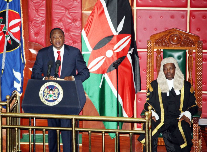 President Uhuru Kenyatta makes his State of the Nation address at the National Assembly's Chamber in  Parliament Buildings, Nairobi.Photo/PSCU